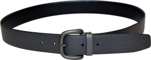 Dennison Men Evening, Casual Black, Grey Genuine Leather Reversible Belt Black, Brown