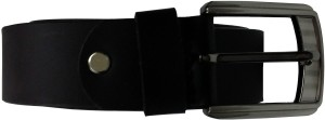 JD Designer Belt Men Formal Black Genuine Leather Belt