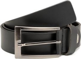 Espana Men Casual Black Genuine Leather Belt Black-02