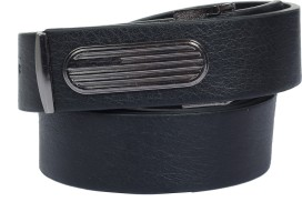 Danmaneao Men Casual, Formal Black Artificial Leather Belt