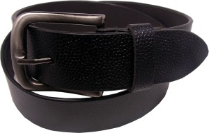 Ekora Men Formal Black Genuine Leather Belt Black
