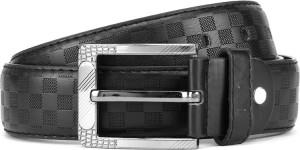 Swiss Design Men Black Genuine Leather Belt Black