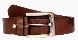 Tops Men, Women Casual Brown Genuine Leather Belt Brown