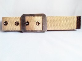Giftee Men Casual Brown Canvas Belt CB-004