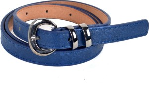 Vivaa Women Casual Blue Artificial Leather Belt Blue