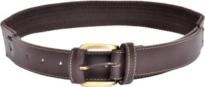 Scarleti Men Formal Brown Artificial Leather Belt Brown