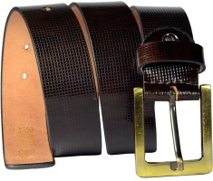 Magiq Men Casual Brown Genuine Leather Belt Brown