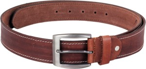 Ligans NY Men Casual, Formal Tan Genuine Leather Belt Tan