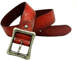LaPalma Girls Casual Red Genuine Leather Belt Rad