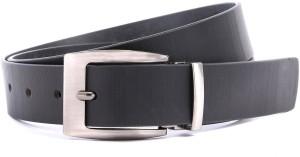 WildHorn Men Formal Black Genuine Leather Belt Black