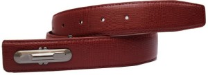 Winsome Deal Men Formal, Casual Maroon Artificial Leather Belt Maroon