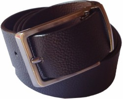 B.S.Chadha Group Men Formal Black Genuine Leather Reversible Belt Black