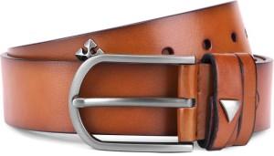 Swiss Design Men Tan Genuine Leather Belt Tan