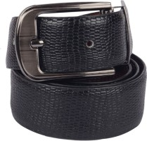 Grasshooper Men Formal Black Genuine Leather Reversible Belt Black