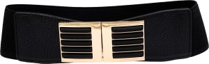 20Dresses Women Party Black, Gold Artificial Leather Belt Black-Gold
