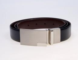 Bombay High Men Formal Black Genuine Leather Reversible Belt BLK