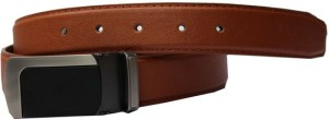Winsome Deal Men Formal, Casual Tan Artificial Leather Belt Tan