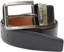 Midas Men Formal Multicolor Genuine Leather Reversible Belt