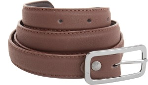 Aadaana Women Casual Brown Genuine Leather Belt Brown
