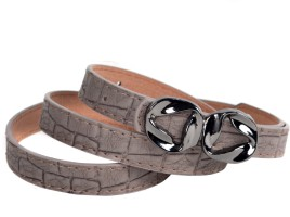 Vivaa Women Casual Grey Artificial Leather Belt