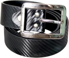 Lee Italian Men Formal Black Genuine Leather Belt Black
