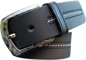 Winsome Deal Men Casual Black Genuine Leather Belt Black
