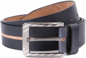 WildHorn Men Casual Black Genuine Leather Belt