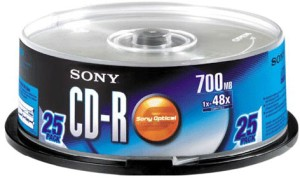 Sony CD-R 25 Pack Spindle