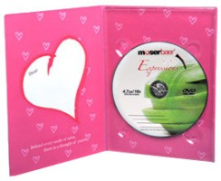 Moserbaer Love Card Pink with Green Apple Fragrance DVDR