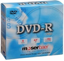 Moserbaer DVD Recordable Jewel Case 4.7 GB