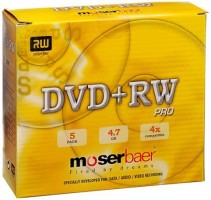 Moserbaer DVD Rewritable Jewel Case 4.7 GB