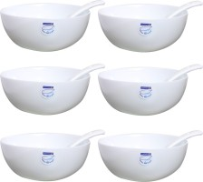 Luminarc 12 cm plain Porcelain Bowl Set
