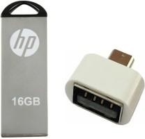 HP 16 GB V220w Pen Drive with OTG Adapter Combo Set