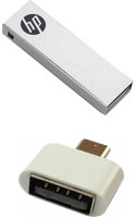 HP 16 GB V210w Pen Drive with OTG Adapter Combo Set