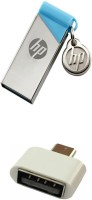 HP 16 GB V215b Pen Drive with OTG Adapter Combo Set