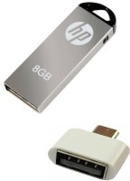 HP 8 GB V220w Pen Drive with OTG Adapter Combo Set