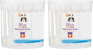 Healthbuddy Noknok Baby Cotton Swabs 2 Packs of 56 pcs Each