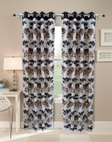 Homefab India Olive Tree Brown Long Door Curtain