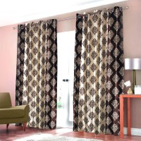 Christy's collection Shades of Paradise Door Curtain Pack of 4