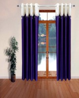Homefab India Designer Lace Purple Window Curtain Pack of 2