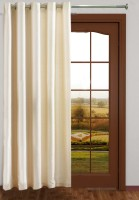 Homefab India Royal Silky Cream Door Curtain