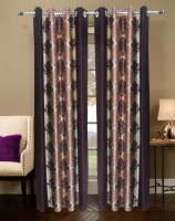 Homefab India Damas Wine Door Curtain Pack of 2