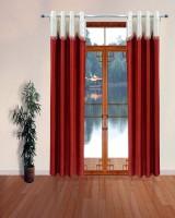 Homefab India Designer Lace Rust Window Curtain