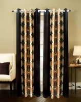 Homefab India Damas Brown Door Curtain