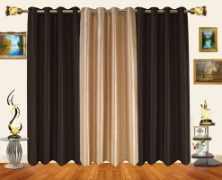 Decor Bazaar Alternate Solids Door Curtain Pack of 3