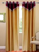 Homefab India Designer Beige Door Curtain