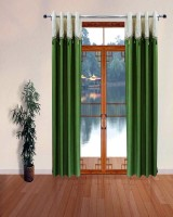 Homefab India Designer Lace Green Window Curtain