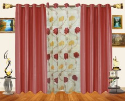 Decor Bazaar Alternating Panel Window Curtain