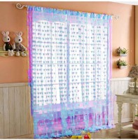 Zesture 100% Polyester Door Curtain Pack of 3, 82 inch/210 cm in Height
