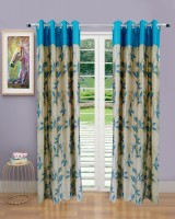 Homefab India Pearl Aqua Door Curtain